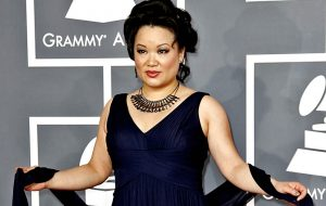 LOS ANGELES, CA-FEBRUARY12, 2012: 170117.CA.0212.Grammy.KDM Angelin Chang at the 54th Annual Grammy Awards at the Staples Center in Los Angeles on February 12, 2012. (Kirk McKoy / Los Angeles Times)